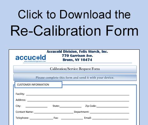 Calibration form