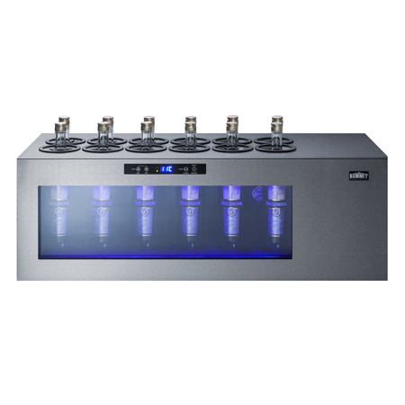 Commercial tabletop wine chillers