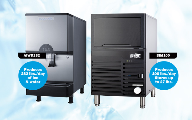 AIWD282 and BIM100 Commercial Grade Icemakers