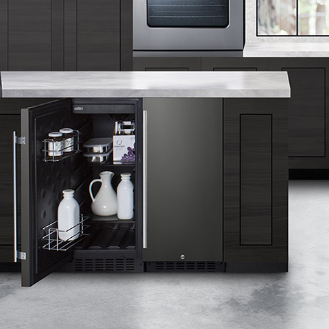 FF1532BKS refrigerator with SCFF1842KS freezer