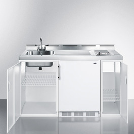C60ELGLASS Kitchenette Open