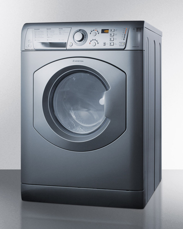 blomberg wm98200sx 24u201d compact front load washer and dhp24400w ventless dryer combo white stackable vs combo arwdf129sna angle