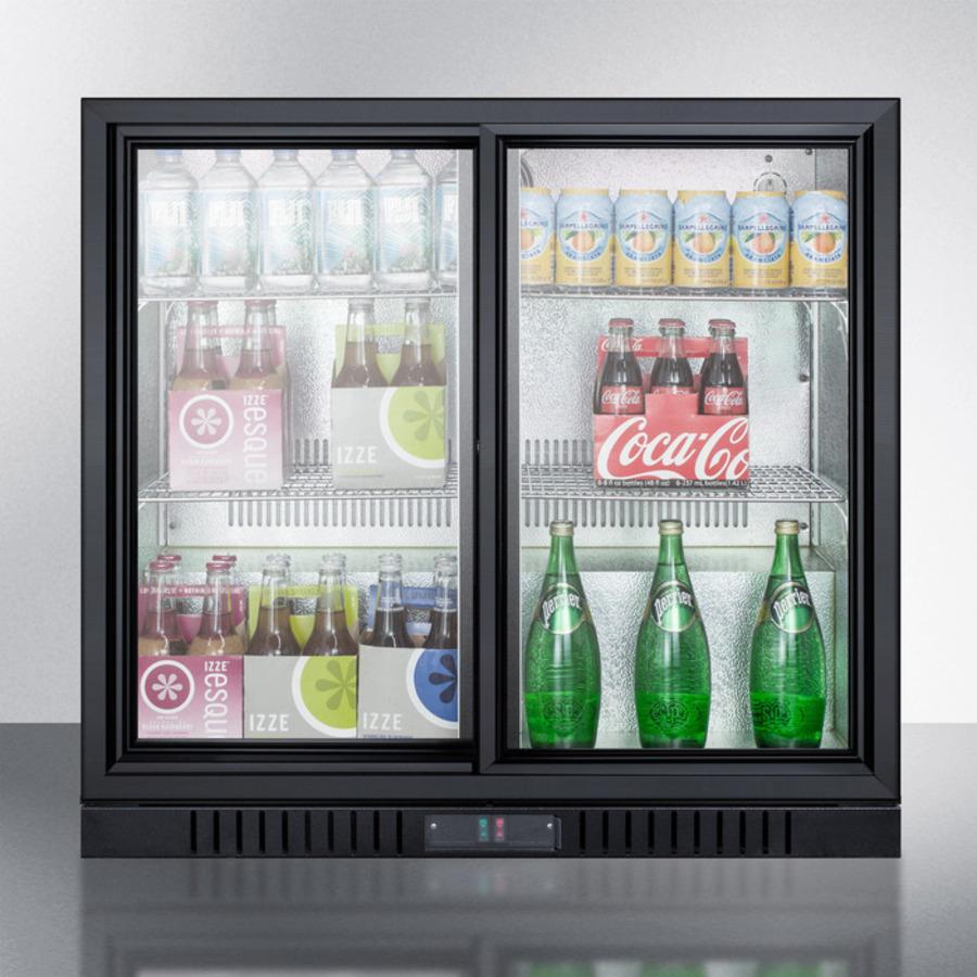 Undercounter Beverage Refrigerator Glass Door Scr700 Summit Appliance