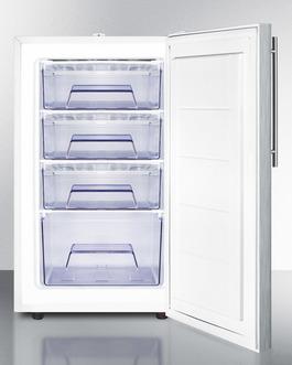 FS407L7SSHVADA Freezer Open