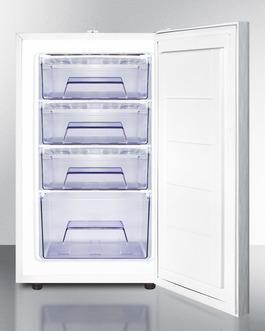 FS407LSSHHADA Freezer Open