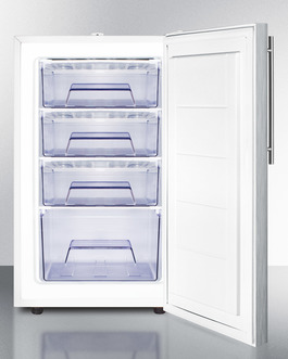 FS407LSSHVADA Freezer Open