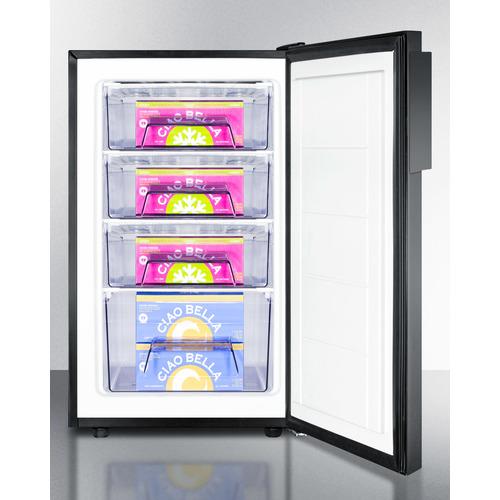 FS408BLBI Freezer Full