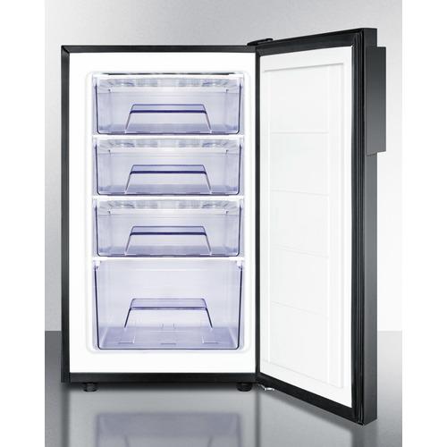 FS408BLBI Freezer Open