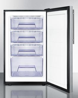 FS408BL7SSHVADA Freezer Open