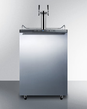 SBC635MBISSHHTWIN Kegerator Front