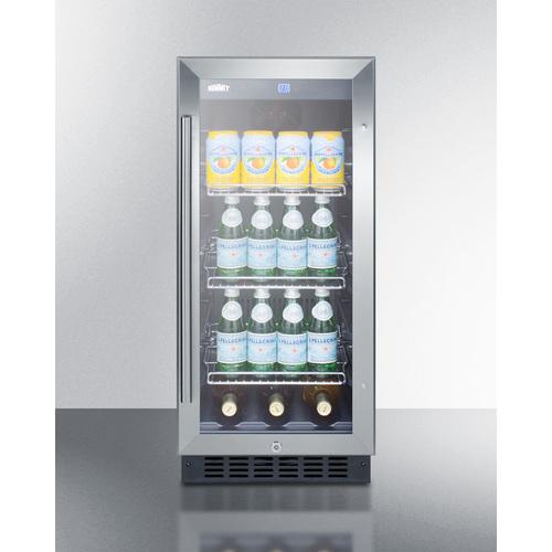 SCR1536BGCSS Refrigerator Full