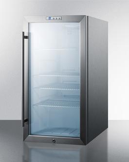SCR486LCSS Refrigerator Angle
