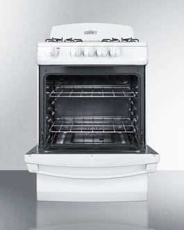 RG244W Gas Range Open