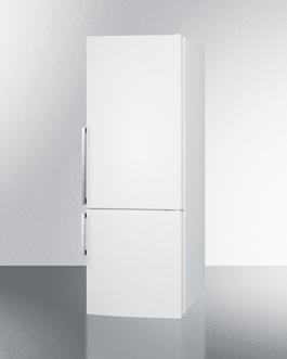 FFBF281W Refrigerator Freezer Angle