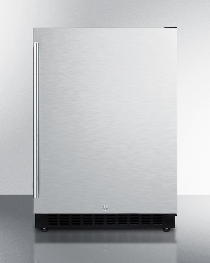 Summit AL54IF 24 ADA Compliant Commercial Compact Refrigerator with 4.8 cu ft Capacity Factory Installed Lock Frost Free Operation Open Door and High Temperature Alarm in Panel