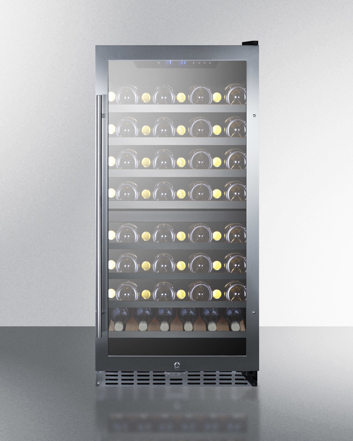 Summit SWC1380D 24 Dual Zone Wine Cooler with 122 Bottle Capacity LED Lighting Factory Installed Lock Active Carbon Filter in Stainless