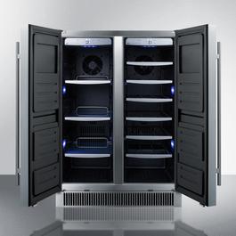 CL66FDOS Wine Cellar Open
