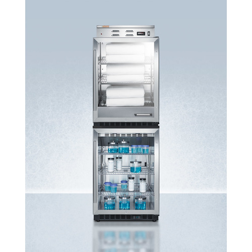 PHC61G-SCR610BLSTACK Warming And Cooling Cabinet Full