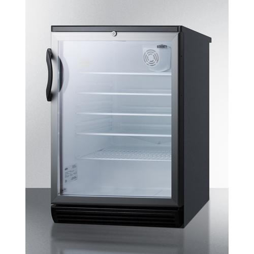 SCR600BGLBI Refrigerator Angle