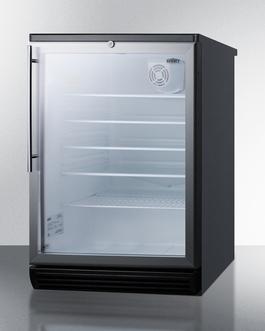 SCR600BGLHV Refrigerator Angle