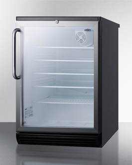 SCR600BGLTB Refrigerator Angle