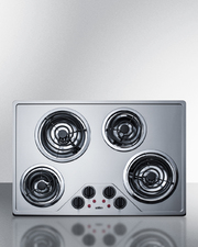 CR430SS Electric Cooktop Front