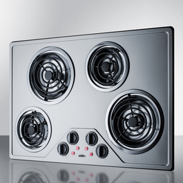 CR430SS Electric Cooktop Angle