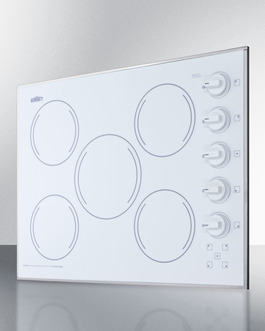 CR5B274W Electric Cooktop Angle
