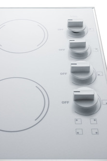 CR425WH Electric Cooktop Detail