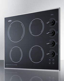 CR425BL Electric Cooktop Angle
