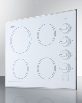 CR425WH Electric Cooktop Angle