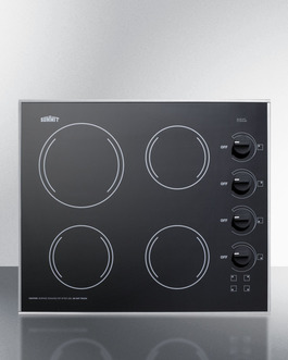 CR425BL Electric Cooktop Front