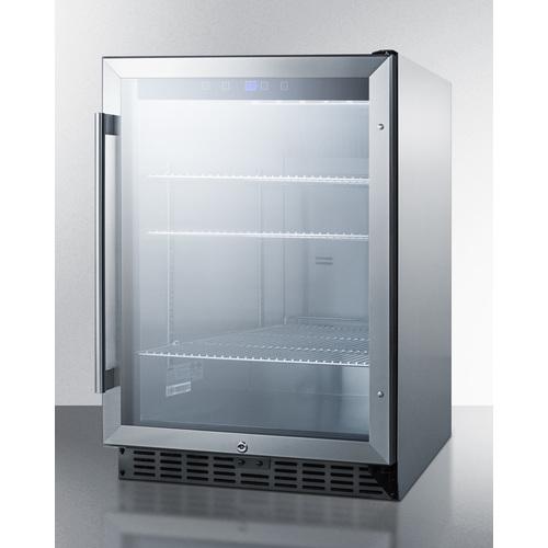 SCR611GLOS Refrigerator Angle