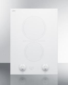 CREK2W Electric Cooktop Front