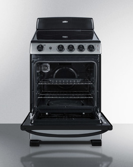 REX2451SS Electric Range Open