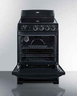 REX2431B Electric Range Open