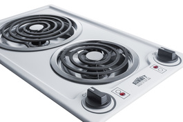 CCE211WH Electric Cooktop Detail