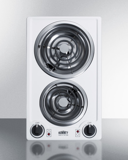 CCE225WH Electric Cooktop Front