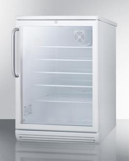 SCR600GLTB Refrigerator Angle
