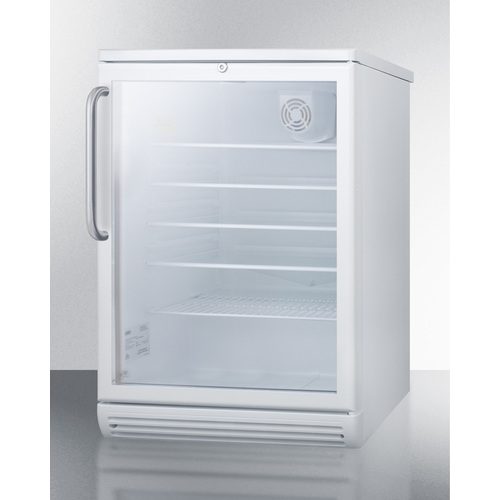SCR600GLBITB Refrigerator Angle