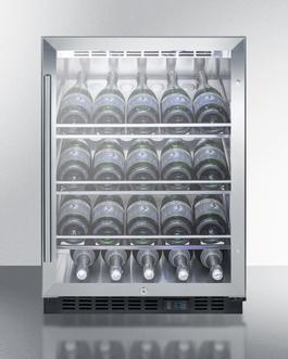 SCR610BLCHCSS Wine Cellar Full