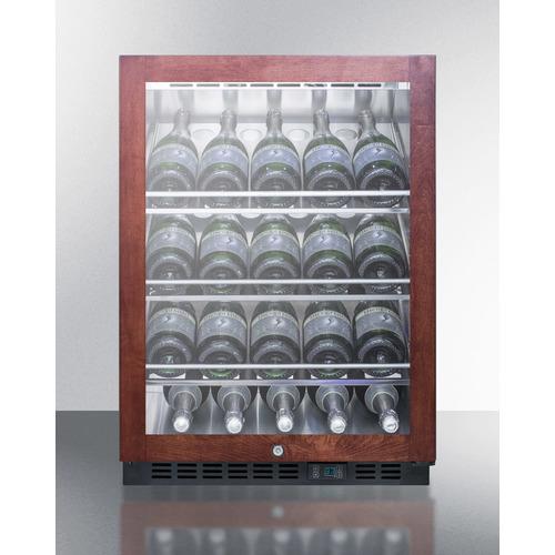 SCR610BLCHPNR Wine Cellar Full