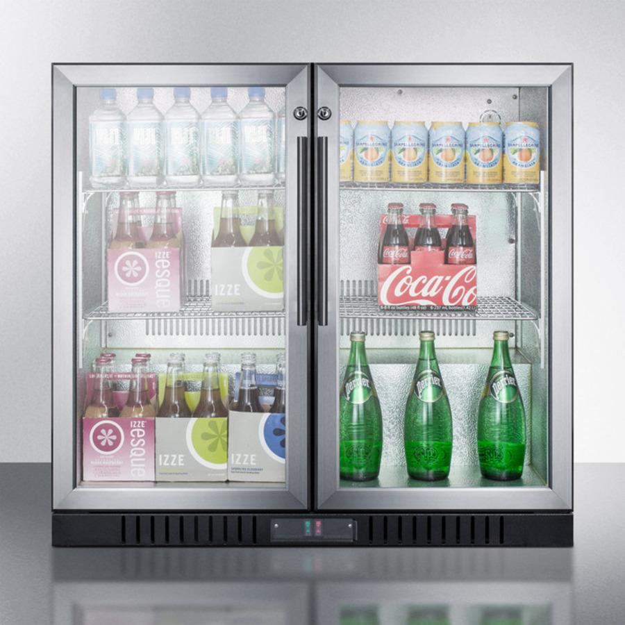 Undercounter Beverage Refrigerator Glass Door Scr7012d Summit Appliance