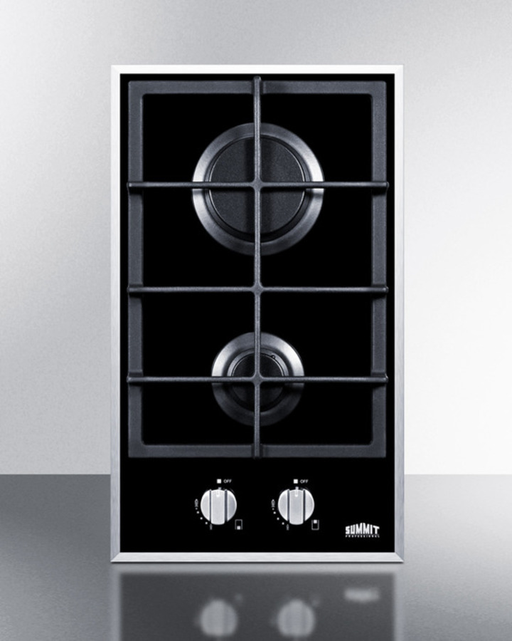 Summit GC22SS Gas Cooktop Appliances Stainless-Steel