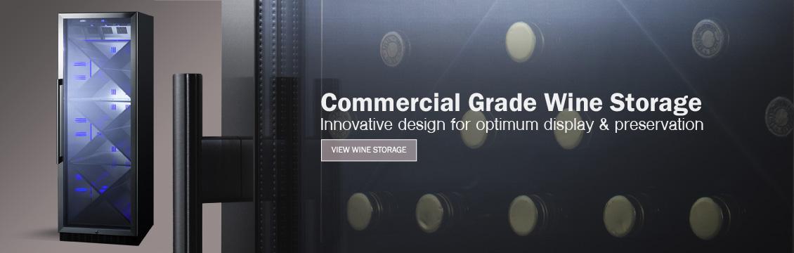 Commercial grade wine cellars