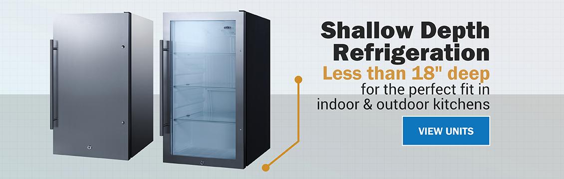 Shallow depth refrigeration