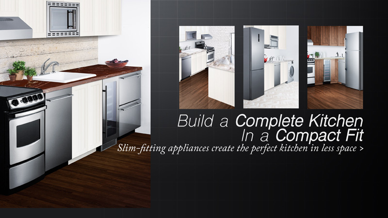 Build a complete kitchen in a compact fit