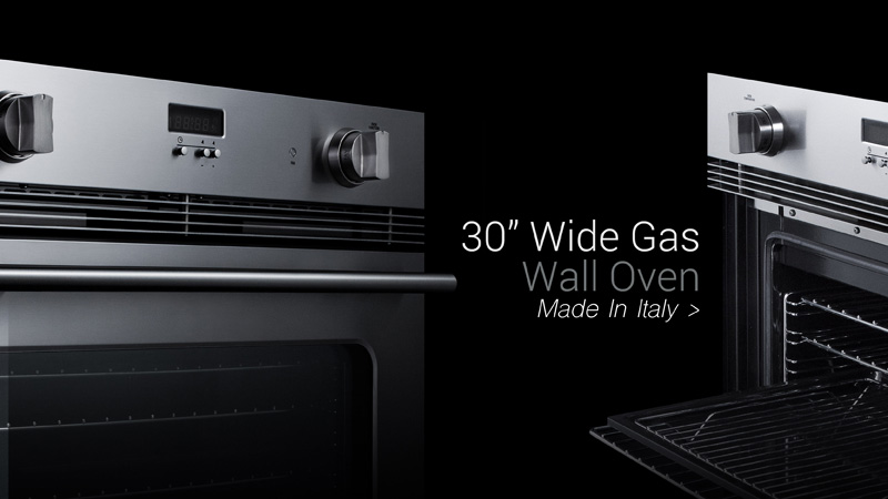 30 inch wide gas wall oven